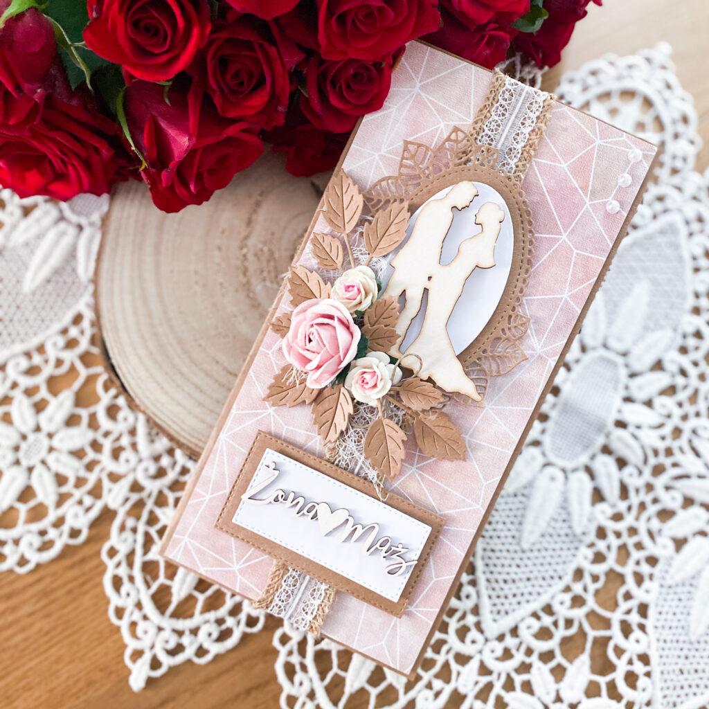ręcznie wykonane kartki ślubne